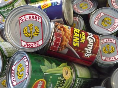 tin cans up close