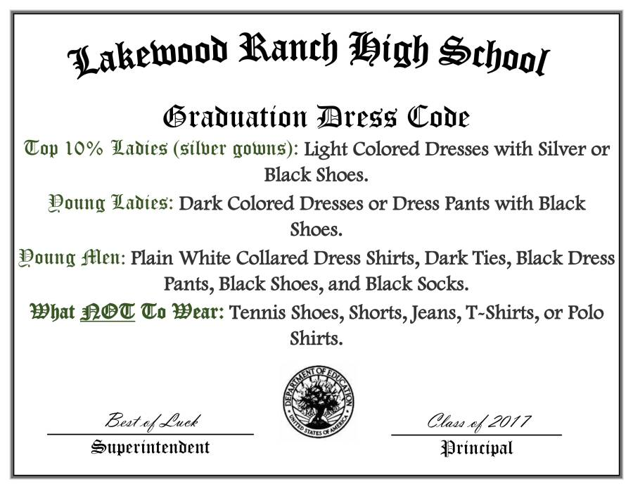 Graduation Dress Code Revise (2)