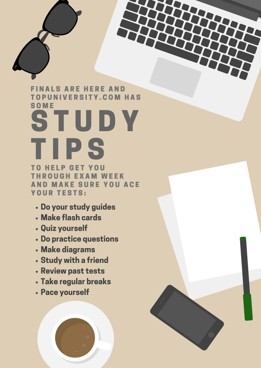 study tips infographic - bailey dawn