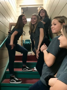 mustang capella waits backstage for foreigner