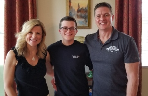 breiner with parents