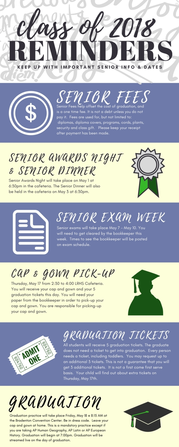 Seniors reminded of key days mustangs ahead senior infographic colourmoves