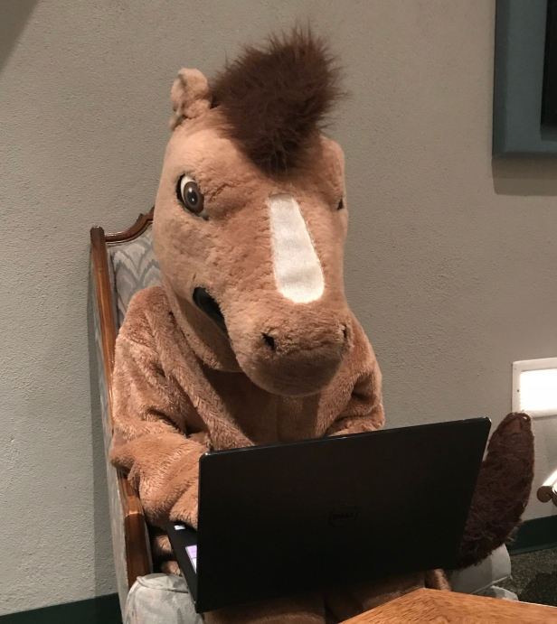 klumpy on computer