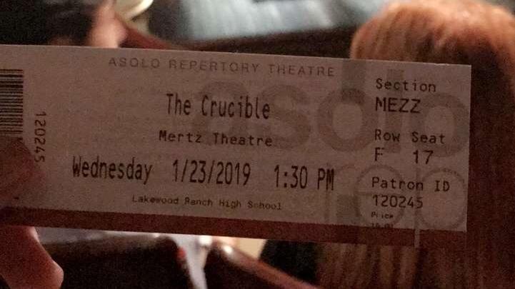 crucible ticket
