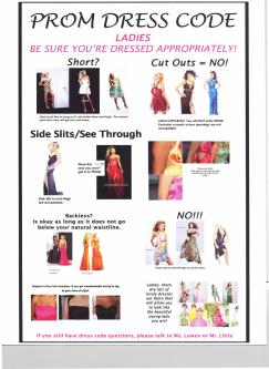 prom dress code - girls