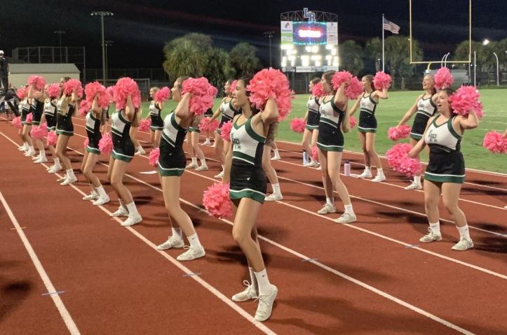 cheerleaders at homecoming 2019