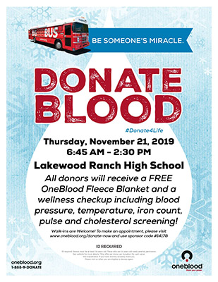 blood drive flyer 2019 nov 21