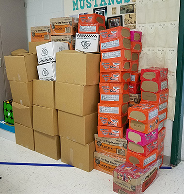 canned goods donations