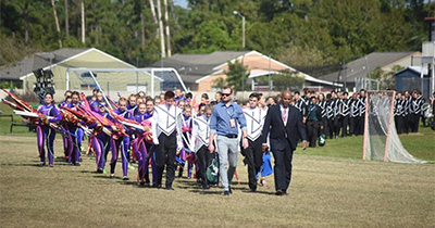 band marching in