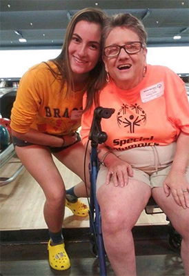 unified student with special olympian