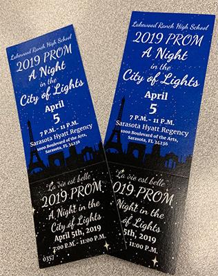 2019 prom tickets