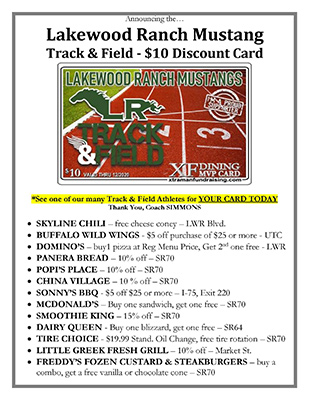 2020 Discount List- $10 Card