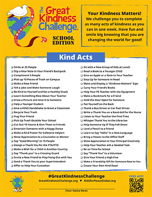 Great Kindness Challenge Flyer