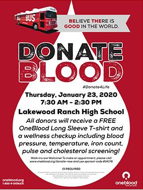LRHS January Blood Drive 2020