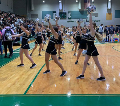 pep rally 2020 cheerleaders