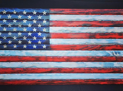wooden flag 2