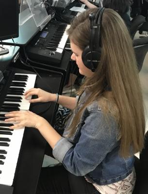 LRHS senior Lily Potter hones her musical talent.