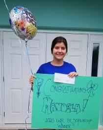 Manoela Dos Santos celebrates.